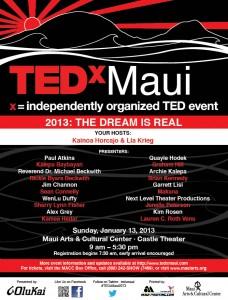 TEDxMaui 2013 poster